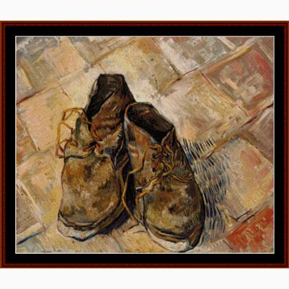 Los Cross Stitch Punto Esquemas Van Collectibles Gogh Zapatos De SUGMVqzp