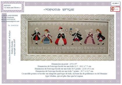 Venta Esquemas: Pompadour de: A Mon Ami Pierre - Precio: $ 12.00 - Casa Cenina.