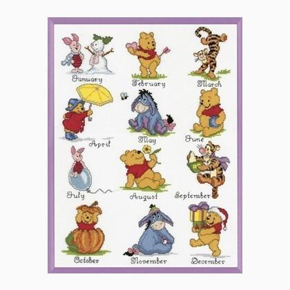 Winnie the pooh calendario de vervaco disney by vervaco for Punto croce disney winnie the pooh