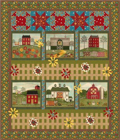 Country Roads de Coach House Designs - Kits y patrones - Quilt y Patchwork - Casa Cenina