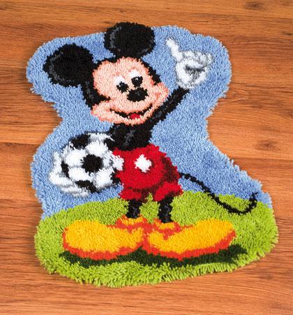 Alfombra entrelazada mickey mouse de vervaco disney by - Alfombras mickey mouse ...