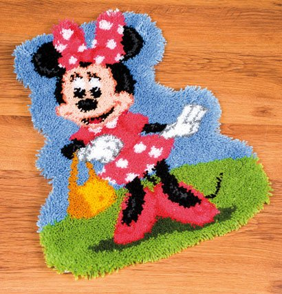 Alfombra entrelazada minnie mouse de vervaco disney by for Alfombras de esmirna