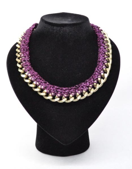 b4618ae18242 DARRYN Collar Kit Box Latón - Violeta de Fili e Forme ® - Diamond ...