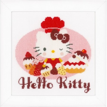 Hello kitty cocina de vervaco bambini kit punto de for Utensilios de cocina hello kitty