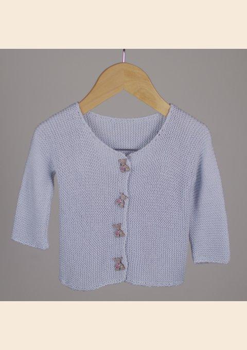Patrón de tejer bebé - Conejito cárdigan y sombrero + Accesorios de ...