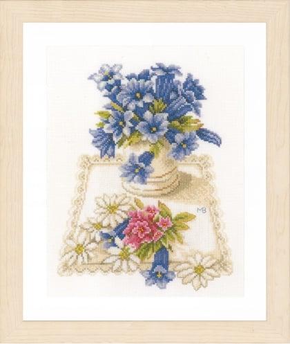 Flores azules de Lanarte - Marjolein Bastin - Kit punto de cruz Kit ...