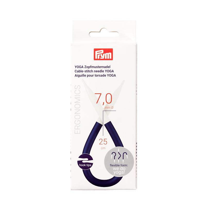 Mini aguja para tejer trenzas de Yoga con cable, 7.00 mm. de Prym ...
