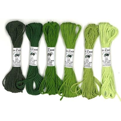 Soie Dalger Pack 6 Tonos Verde De Au Ver A Soie Soie Dalger - Tonos-verde