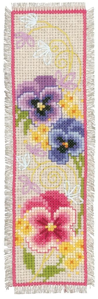 PN-0155949 Vervaco-marcador-Cross Stitch Kit-deco Mariposas juego de 2